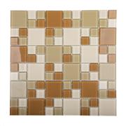Pastilha de Vidro Brilhante 2,3x2,3cm Tan - 4ML008-CC - Jolie