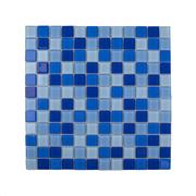 Pastilha de Vidro Brilhante 2,3x2,3cm Azul - 4ML025-CA - Jolie