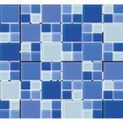 Pastilha de Vidro Brilhante 2,3x2,3cm Azul - 4ML025-CC - Jolie