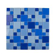 Imagem de Pastilha de Vidro Brilhante 2,3x2,3cm Azul - 4ML025-CC - Jolie