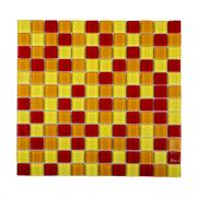 Pastilha de Vidro Brilhante 2,3x2,3cm Amarelo - 4ML019-CA - Jolie
