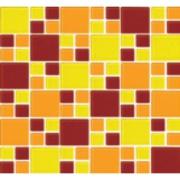 Pastilha de Vidro Brilhante 2,3x2,3cm Amarelo - 4ML019-CC - Jolie