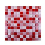 Pastilha de Vidro Brilhante 2,3x2,3cm Vermelho - 4ML017-CA - Jolie