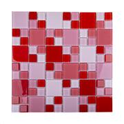 Pastilha de Vidro Brilhante 2,3x2,3cm Vermelho - 4ML017-CC - Jolie