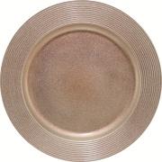 Sousplat Redondo Plástico 33cm Bronze - Mimo Style