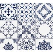 Imagem de Cerâmica Braga Acetinado HD Tipo A Borda Bold 10x10cm 1,80m² Azul - Elizabeth