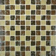 Pastilha de Vidro Craquelada 2,5x2,5cm Branco - MC002A - Jolie