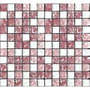 Pastilha de Vidro Craquelada 2,5x2,5cm Branco - MC001B - Jolie