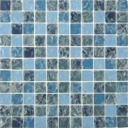 Imagem de Pastilha de Vidro Craquelada 2,5x2,5cm Azul Claro - MC003B - Jolie