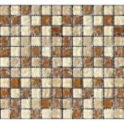 Pastilha de Vidro Craquelada 2,5x2,5cm Tan - MC005A - Jolie