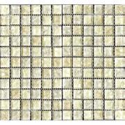 Pastilha de Vidro Craquelada 2,5x2,5cm Creme - MC006A - Jolie