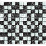 Pastilha de Vidro Craquelada 2,5x2,5cm Preto - MC007A - Jolie