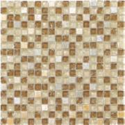 Pastilha de Vidro Craquelada 1,5x1,5cm Tan - MC003H - Jolie