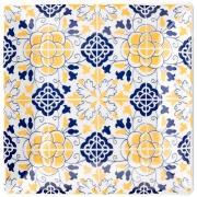 Imagem de Prato de Sobremesa Quadrado em Porcelana Quartier Sevilha Branco 20cm - Oxford