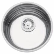Imagem de Cuba Simples para Cozinha de Embutir de Aço Inox Alto Brilho 30cm x 30cm com Válvula Prata - 94010/207 - Luxo Tramontina