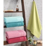 Toalha de Banho Lisa Royal 100% Algodão 70 x 130 cm Piscina - Santista