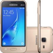 "Smartphone Samsung Galaxy J1 Mini Dual Chip Tela 4,0"" Quad Core 8GB 3G Wi-Fi Câmera de 5.0MP - Ouro"