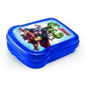 Pote Plástico Quadrado 17x13,1x4,2cm - Avengers - Plasútil