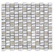 Imagem de Mosaico Mosaico Mix Stone White Tipo A 29,5x32,2cm 5 Unidades - Incepa