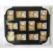 Painel Multifotos de Madeira 50x60 cm Preto 107 - Quadros Genaro