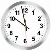Imagem de  Relógio de Parede Work Alumínio 30 cm Branco 1020 - Relobraz