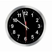 Imagem de  Relógio de Parede Work Alumínio 30 cm Preto 1021 - Relobraz