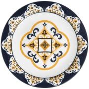 Imagem de Prato Raso Redondo em Cerâmica São Luis Branco 26cm - Oxford