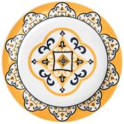 Prato de Sobremesa Redondo em Cerâmica São Luis Branco 20cm - Oxford