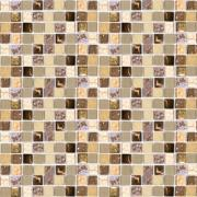 Imagem de Pastilha de Vidro e Pedra Brilhante 1,5x1,5cm Ocre - Cristal Stone - Vetromani