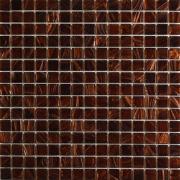 Pastilha de Vidro Brilhante 2x2cm Marrom - Gold - Vetromani