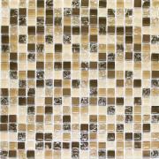 Pastilha de Vidro e pedra Brilhante 1,5x1,5cm Cobre - Grieta Metal - Vetromani