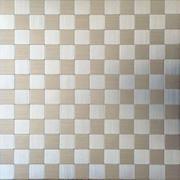 Pastilha de Alumínio Escovado 2,5x2,5cm Prata - Autoadesiva - Vetromani
