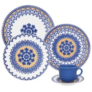 Imagem de Aparelho de Jantar de Cerâmica 20 Peças La Carreta Azul - Oxford