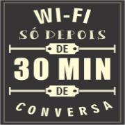 Imagem de Placa Decorativa em MDF 30x20 cm Wi-fi x Conversa 66261 - Kapos