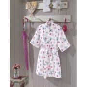 Roupão de Banho Infantil Jane Estampado M com Cinto - Dohler