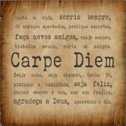 Imagem de Placa Decorativa em MDF 25x25 cm Carpe Diem 67085 - Kapos