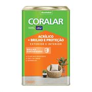 Imagem de Tinta Acrílica Semibrilho Standard 18L - Branco Neve - Brilho E Proteção Coral