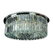 Imagem de Lustre Aço e Cristal Linbon 6 Lâmpadas - Ecoline