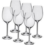 Jogo de Taças Água/Vinho Cristal 450ml 6 Peças - Crystalite Bohemia