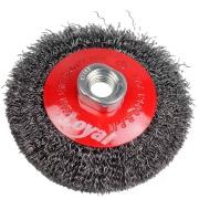 Imagem de Escova Circular Aço Carbono 100 mm Ondulada Rosca M14 - Loyal