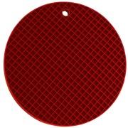 Imagem de Descanso de Panela Redondo de Silicone 18 cm Vermelho Escuro - Yangzi