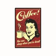 Placa Decorativa em MDF 29x19 cm Coffee Retrô 5066 - Cia Laser