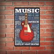 Imagem de Placa Decorativa em MDF 29x19 cm Guitarra 5123 - Cia Laser