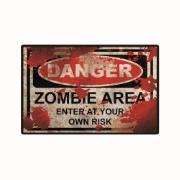 Imagem de Placa Decorativa em MDF 29x19 cm Zombie Zone 5073 - Cia Laser