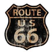 Placa Decorativa em MDF 29x19 cm Route Us 66 5231 - Cia Laser