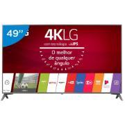 """Smart TV LED 49"""" LG 4K/Ultra HD 49UJ6565 - Conversor Digital 4 HDMI 2 USB"""