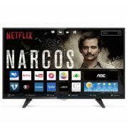 "Smart TV LED 43"" Aoc Full HD LE43S5970 - Conversor Digital Wi-Fi 3 HDMI 2 USB"