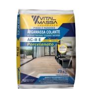 Imagem de Argamassa ACIIE Porcelanato Interno e Externo 20Kg Cinza - VitalMassa