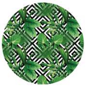 Sousplat Redondo Madeira 34cm Verde - NSW