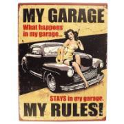 Imagem de Placa Decorativa em MDF 40x30 cm My Garage 5178 - Cia Laser